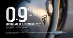 Offre de crédit TAEG 0.9% sur toute la gamme Triumph 2017